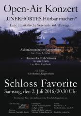 2016 OpenAir Konzert – Plakat